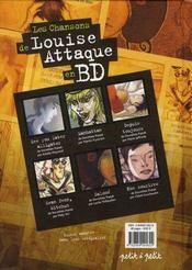 Les chansons de louise attaque en bd - 4ème de couverture - Format classique