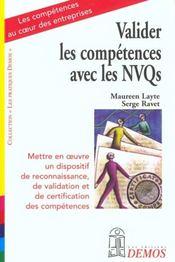 Valider Les Competences Avec Les Nvqs - Intérieur - Format classique
