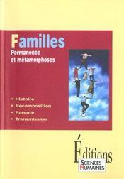 Familles ; permanence et métamorphoses - Intérieur - Format classique