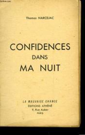 Confidences Dans Ma Nuit - Couverture - Format classique