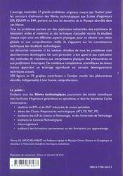 Sciences Physiques Pour Technologues Problemes Avec Solutions Detaillees Iut Iup Prepas Ats Tsi Tpc - 4ème de couverture - Format classique