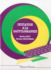 Initiation à la dactylographie - Couverture - Format classique