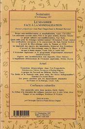 Confluences Mediterranee, Le Maghreb Face A La Mondialisation - 4ème de couverture - Format classique