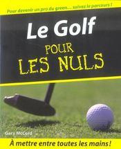 Le golf pour les nuls - Intérieur - Format classique