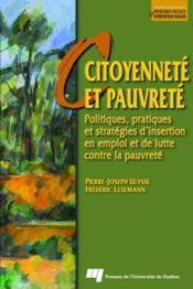 Citoyenneté et pauvreté ; politiques, pratiques et stratégies d'insertion en emploi et de lutte contre la pauvreté - Couverture - Format classique