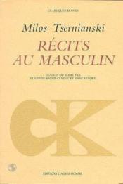 Recits Au Masculin - Couverture - Format classique