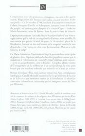 Marie-antoinette, la rose ecrasee - 4ème de couverture - Format classique