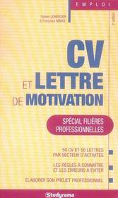 Cv et lettre de motivation spécial filières professionnelles (2e edition) - Intérieur - Format classique