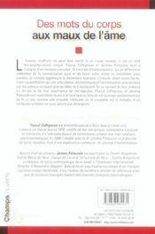 Des Mots Du Corps Aux Maux De L'Ame - 4ème de couverture - Format classique