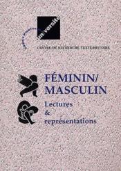 Féminin / masculin ; lectures et représentations - Couverture - Format classique