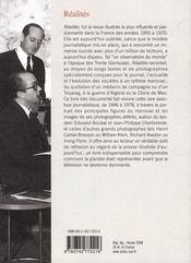 Realites ; Un Mensuel Illustre Francais 1946-1978 - 4ème de couverture - Format classique