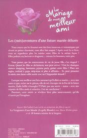 Le Mariage De Mon Meilleur Ami - 4ème de couverture - Format classique