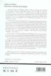 Essai Sur La Memoire De La Shoah En Allemagne Federale - 4ème de couverture - Format classique