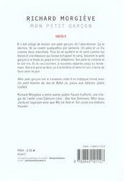 Mon Petit Garcon - 4ème de couverture - Format classique