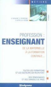 Profession : enseignant - Intérieur - Format classique