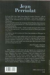 Jean perriolat ; d'un pas de disciple : de la joc à mauthausen - 4ème de couverture - Format classique