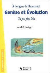 Genèse et évolution ; un pas plus loin - Couverture - Format classique