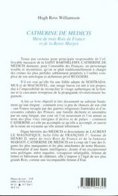 Catherine De Medicis - 4ème de couverture - Format classique