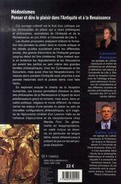 Hédonismes - 4ème de couverture - Format classique