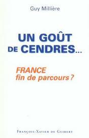 Gout De Cendres - France, Fin De Parcours ? - Intérieur - Format classique