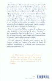 Gout De Cendres - France, Fin De Parcours ? - 4ème de couverture - Format classique