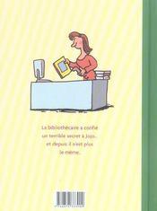 Jojo et le secret de la bibliothécaire - 4ème de couverture - Format classique