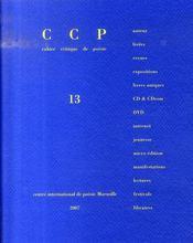 Cahier critique de poesie n.13 ; claude esteban - Intérieur - Format classique