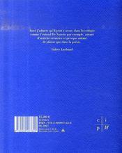 Cahier critique de poesie n.13 ; claude esteban - 4ème de couverture - Format classique