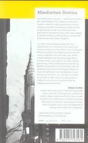 Manhattan Stories - 4ème de couverture - Format classique
