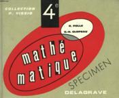 Mathematique Classe De 4° - Couverture - Format classique