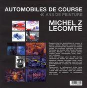 Automobiles de course ; 40 ans de peinture - 4ème de couverture - Format classique