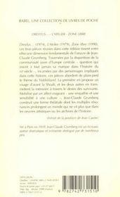 Dreyfus... - L'Atelier - Zone Libre (Ne) Babel 314 - 4ème de couverture - Format classique