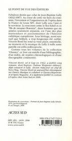 Jean-Baptiste Lully - 4ème de couverture - Format classique
