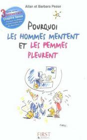 Pourquoi Les Hommes Mentent Et Les Femmes Pleurent Edition 4e Anniversaire - Intérieur - Format classique