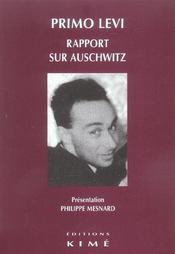 Rapport Sur Auschwitz - Intérieur - Format classique