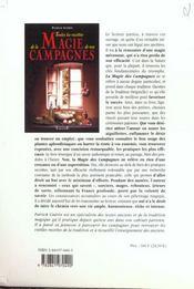 Toutes Recettes Magie Campagnes - 4ème de couverture - Format classique