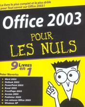 Office 2003 Pour Les Nuls ; 9 Livres En 1 - Intérieur - Format classique
