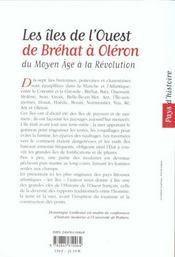 Iles De L'Ouest, De Brehat A Oleron - 4ème de couverture - Format classique