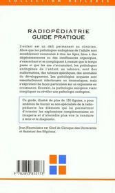 Radiopediatrie Guide Pratique - 4ème de couverture - Format classique