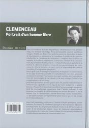 Clémenceau, portrait d'un homme libre - 4ème de couverture - Format classique