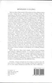 Mesogeios T.13-14 ; Hommage A Johannes Irmscher - 4ème de couverture - Format classique