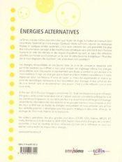 Énergies alternatives - 4ème de couverture - Format classique