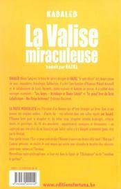 La valise miraculeuse - 4ème de couverture - Format classique