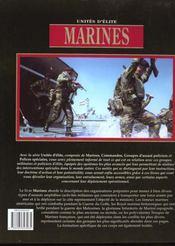 Marines Unite D Elite - 4ème de couverture - Format classique