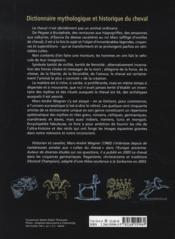 Dictionnaire mythologique et historique du cheval - 4ème de couverture - Format classique