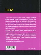 The Usa Le Monde En Qcm - 4ème de couverture - Format classique