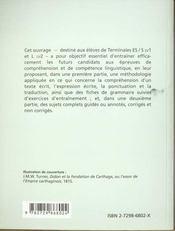 Reussir Les Epreuves De Comprehension Ecrite Et De Competence Linguistique Au Bac Anglais - 4ème de couverture - Format classique
