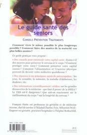 Le Guide Sante Des Seniors - 4ème de couverture - Format classique