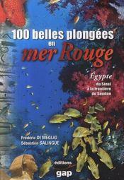100 belles plongées en Mer Rouge ; Egypte, du Sinaï au Soudan - Intérieur - Format classique