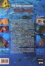 100 belles plongées en Mer Rouge ; Egypte, du Sinaï au Soudan - 4ème de couverture - Format classique